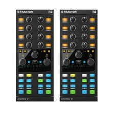 2x Native Instruments Traktor Kontrol X1 Mk2 PAIR DJ MIDI Controller Package