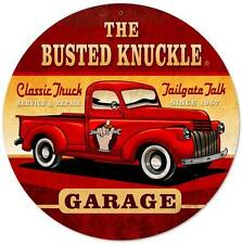 Busted Knuckle Garage Hot Rod Truck Retro Metal Sign Man Cave Shop Club Bus068