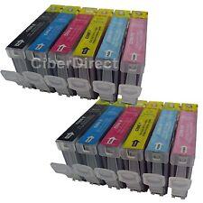 12 Cartucce Di Inchiostro Per Canon Pixma IP6700D PHOTO PRINTER