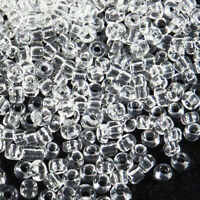 rocaille glass seed beads Transparent 2mm Crystal 20g (12/0)