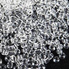 Perles de Rocailles en verre Transparent 2mm Cristal 20g (12/0)