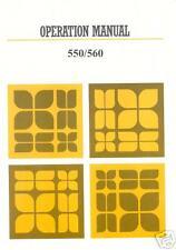 Knitting Machine Instructions Models 560/550 Electronic