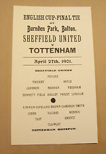 1901 FA Cup final Replay programme Sheffield United v Tottenham Hotspur mint con