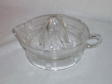 Vintage Clear Pressed Glass Citrus Juice Reamer