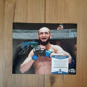 Khamzat Chimaev UFC Signed 8x10 Photo COA BAS Beckett #T40942 Autographed