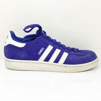 Adidas Mens Campus 2 B26156 Blue White Running Shoes Lace Up Low Top Size 9.5