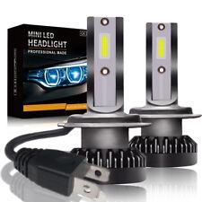 2x CREE MINI H7 LED Headlight Bulbs Conversion Kit 200W 48000LM 6000K Hi/Lo Beam