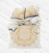 Indian Hippie Mandala Double Queen Size Bed Quilt Duvet Doona Cover Bedding Boho