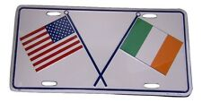 "USA American & Ireland Irish 6""x12"" Aluminum License Metal Plate Sign"