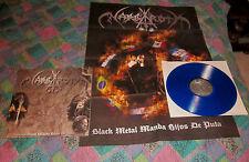 NARGAROTH black metal manda .. LP first press blue vinyl ltd 200 copies rare !!!