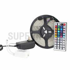 RGB 300leds 5M 3528 LED Strip Light Waterproof + 12V/2A Power + 44keys IR Remote