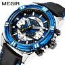 MEGIR Mens Watches Top Brand Luxury Quartz Watch Men Causal Waterproof Chronogra