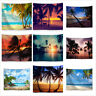 Wall Hanging Mural Decor Art Tapestry Polyester Palm Tree Printed Beach Towel