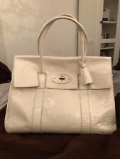 1e6afece103 Mulberry Bayswater In White Spazzalato Leather - Project Bag!