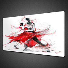 ABSTRACT DANCING COUPLE CANVAS PICTURE PRINT WALL ART HOME DECOR FREE DELIVERY
