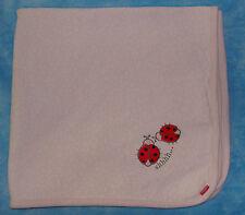 Kushies Pink Organic Cotton Baby Blanket Flower Print Lady Bugs Shhhh...