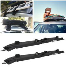 2PC Fold Oxford Car Soft Roof Rack Luggage Ladder Surfboard Holder Load 60kgs