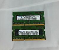 Samsung 2GB 2x1GB DDR3 PC3-8500S 1Rx8 LAPTOP MEMORY RAM
