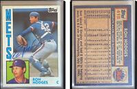 Ron Hodges Signed 1984 Topps #418 Card New York Mets Auto Autograph
