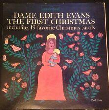 Dame Edith Evans The First Christmas 19 Favorite Christmas Carols lp