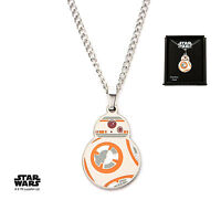 OFFICIAL STAR WARS BB-8 DROID CUT OUT PENDANT ON CHAIN NECKLACE (NEW)