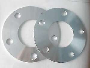 """Four hub centric spacers bolt pattern 5x4.5"""" CB 66.1mm thickness 9mm"""