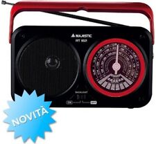 New Majestic Radio portatile Analogica AM/FM/SW con altoparlanti BKRD RT-182