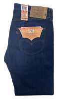 NWT Levi's 501 Straight Leg Button Fly Jeans Mens 34 X 32 Blue Dark NOS New