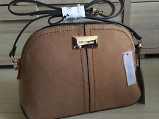 RIVER ISLAND tan brown TRIPLE COMPARTMENT  CROSSBODY BAG new WITH TAGS