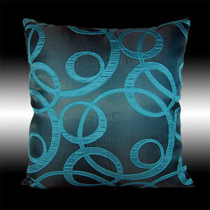 ABSTRACT ELEGANT TURQUOISE DECORATIVE CUSHION COVER THROW PILLOW CASE 17""