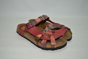 Birkenstock Papillio Red Geometric Strappy Casual Comfort Sandals 40 9 Narrow