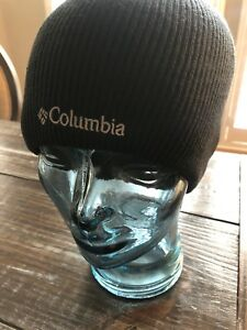 Columbia BIG BONANZA Adult Black Knit Beanie Hat Size OSFA Made In Taiwan! NEW