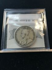 1931  Coin Mart Graded Canadian Silver 50 Cent, **VG-8**