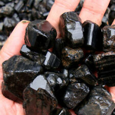 Natural Black Tourmaline Crystal Rough Rock Mineral Specimen Healing Stone 50g