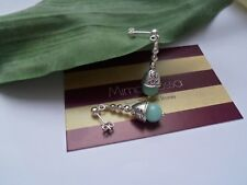 925 Semi-Precious Solid Sterling Silver/ Tibetan Silver Drop Jade Earrings.New