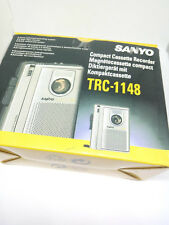 Sanyo TRC-1148 Standard Compact Cassette Voice Recorder Talk Book Dictaphone VAS