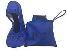 Blu Nuovo Taglia Small POMPE PIANE delle donne pieghevole Ballerine in Borsa UK 5/6