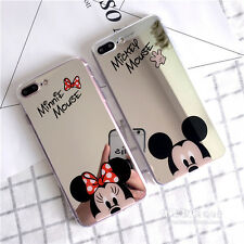 Cute Sparkle Mirror Minnie Mickey Mouse Soft Case Cover for iPhone X 8 8 Plus 6S