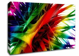 Rainbow Maze Abstract 00459 Canvas Print Wall Art