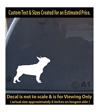 Boston terrier dog 6 inch decal pet love man best friend car laptop more sp1_55b
