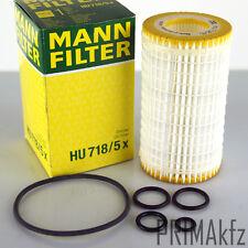 MANN FILTER hu718/5x FILTRO OLIO MERCEDES C 203 204 e 210 211 212 M 163 S 220 221