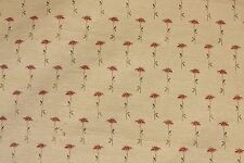 Poppy Fabric, Upholstery Fabric with Red Poppies, Floral Fabric