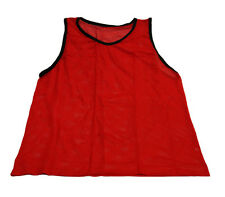 NEW RED SCRIMMAGE VEST (YOUTH) CHEAP SINGLE SOCCER PINNIE MESH BIB PRACTICE