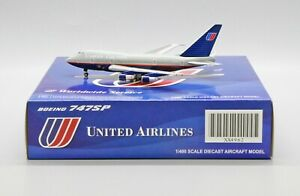 United Airlines B747SP Reg: N145UA Scale1:400 JC Wings Diecast model XX4962