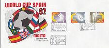 Malta 1982 World Cup Spain FDC Unadressed VGC