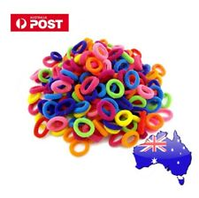 20x Baby Girls Elastic BOLD Colourful Hair Ties Bands Ponytail Scrunchie