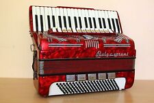 Paolo Soprani Vintage Accordion 120 Bass Fisarmonica 13/5 Registers Red + Case