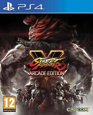 Street Fighter V 5 Arcade Edition PS4 NEW FACTORY SEALED PAL Sony Playstation 4