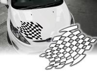 Autoaufkleber Rennflagge Motorhaube Sticker A412 90cm Decals OEM JDM
