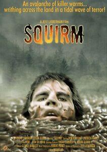 "Squirm 1976 repro US video poster 30x20"" Jeff Lieberman horror FREE P&P rare"